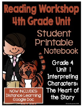 Lucy Calkins Reading Workshop - 4th Grade Notebook - Unit 1