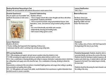 Reading Workshop Lessons