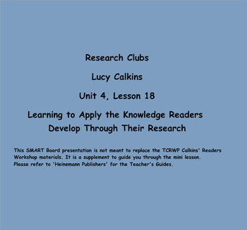 Reading Unit 4 :Research Clubs Grade 3 Lessons 1-18 PDF