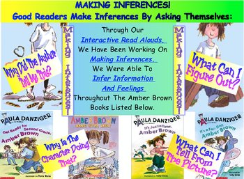 Reading Workshop Making Inferences Amber Brown Character Study Chart