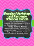 Reading Workshop Materials and Response Notebook Bundle