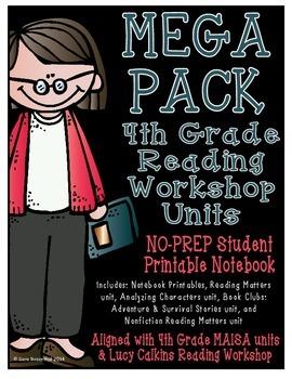 Reading Workshop - Mega Pack Units (4th Grade) ZIP file version