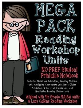 Reading Workshop - Mega Pack Units (4th Grade) PDF Version