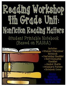 Reading Workshop - Nonfiction Unit (4th Grade No-Prep Student Notebook)