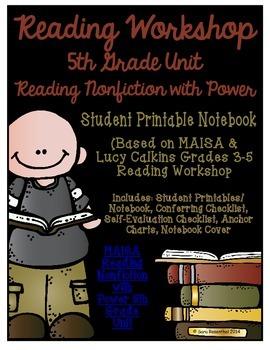 Reading Workshop - Nonfiction Unit (5th Grade No-Prep Student Notebook)