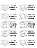Reading Workshop Notebook Labels