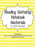 Reading Workshop Notebook Materials: Teacher and Student Notebooks