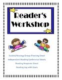 Reading Workshop Planning Sheets