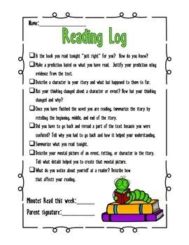 Reading Workshop Reading Log