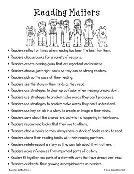 Reading Workshop -Reading Matters/Launching (4th Grade No-Prep Student Notebook)