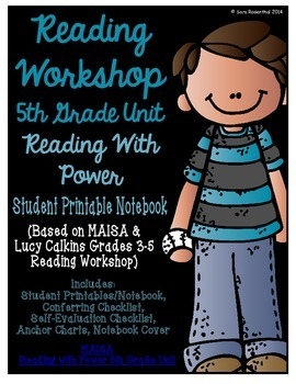 Reading Workshop - Reading with Power (5th Grade No-Prep Student Notebook)