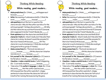 Reading Workshop- Recording Your Thinking