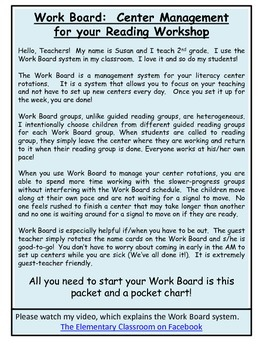 Manage Reading Workshop using a Work Board: A more effective rotation system.