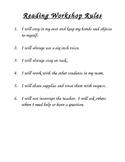 Reading Workshop Rules