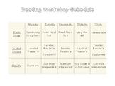 Reading Workshop Schedule