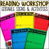Reading Workshop Signs - Editable