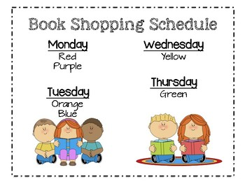 Reading Workshop Signs/Schedule