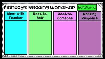 {Editable} Reading Workshop Slideshow