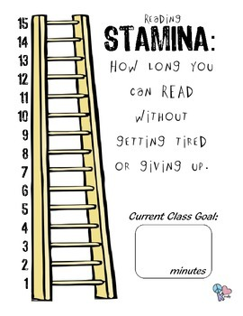 Reading Workshop Stamina Goal and Graph Poster