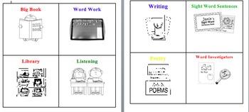 Reading Workshop Station Labels- Literacy Centers Labels