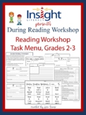 Reading Workshop Task Menu & Recording Sheets, Grades 2 & 3