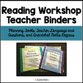 Reading Workshop Teacher Binders: Plan, Talk, and Track