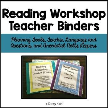 Reading Workshop Teacher Binders: Plan, Talk, and Track