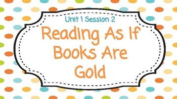 Reading Workshop Unit 1 Session 2 Google Slides
