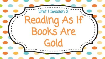 Reading Workshop Unit 1 Session 2 Google Slides
