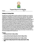 Reading Workshop Units of Study First Grade Parent Progress Reports Bundle