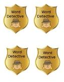 Reading Workshop: Word Detective Badges