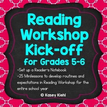 Reading Workshop and Writing Workshop Kick-off Bundle for Grades 5-6