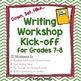 Reading Workshop and Writing Workshop Kick-off Bundle for Grades 7-8