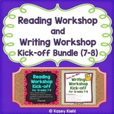 Reading Workshop and Writing Workshop Kick-off Bundle for Grades 7-8