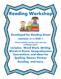 Reading Street Workshop 2nd Grade Unit 1