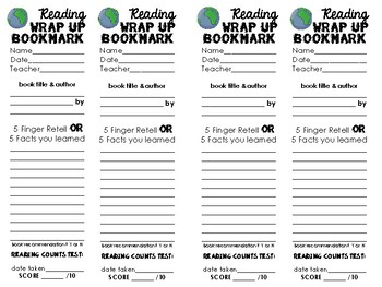 Reading Wrap-Up Bookmark