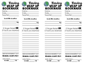 Reading Wrap-Up Bookmark