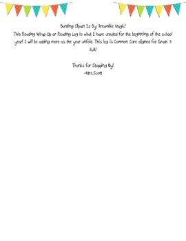 Reading Wrap-Up-Reading Log