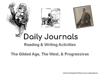 Reading & Writing Activities: The Gilded Age, The West, & Progressives