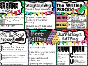 Reading + Writing Anchor Chart Bundle (5th grade common core)