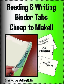 Reading & Writing Binder Tabs!