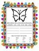 Reading & Writing ~ Butterfly ~ One Work Sheet ~ Many Seasons / Holidays