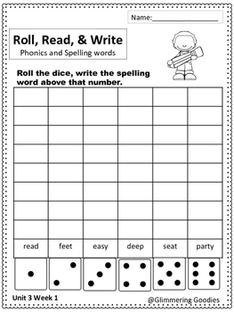 Reading, Writing, Centers and Small Group Instruction Unit 3 Week 1