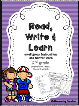 Reading, Writing, Centers and Small Group Instruction Unit 3 Week 2