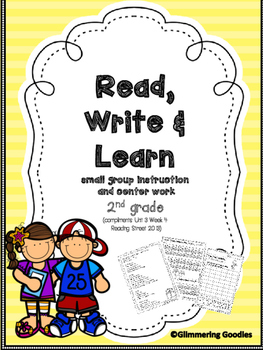 Reading, Writing, Centers and Small Group Instruction Unit 3 Week 4