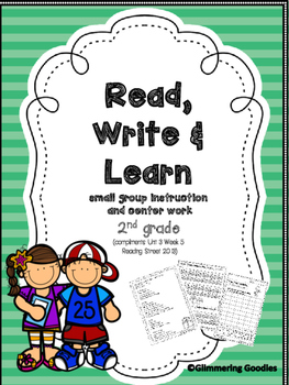 Reading, Writing, Centers and Small Group Instruction Unit 3 Week 5