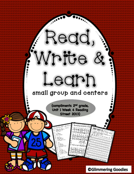 Reading, Writing, Centers and Small Group Instruction Unit 1 Week 4