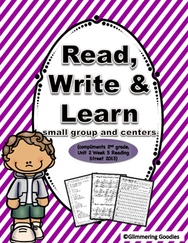 Reading, Writing, Centers and Small Group Instruction  Unit 2 Week 5