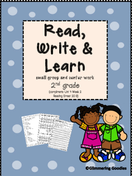 Reading, Writing, Centers and Small Group Instruction  Unit 4 Week 2