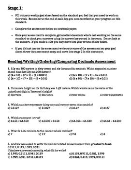 Reading, Writing, & Comparing Decimals